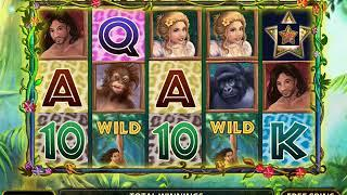 TARZAN AND JANE Video Slot Casino Game with a FREE SPIN BONUS