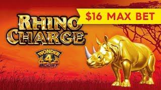 BETTER THAN JACKPOT - Wonder 4 Boost Rhino Charge Slot - BIG WIN BONUS!