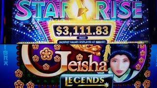 """*LIVE PLAY* (( STAR RISE )) BY """"IGT"""" MAX BET!! (GEISHA LEGENDS ) CHASING PROGRESSIVES!!"""