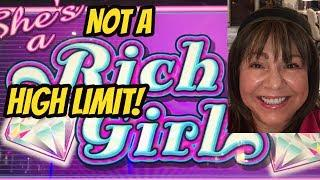 HIGH LIMIT HITS & BONUS ON SHE'S A RICH GIRL