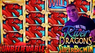Unbelievable Run & HUGE WIN On River Dragons Slot Machine - NON STOP BONUSES WON w/$8.80 MAX BET