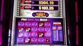Bally QUICK HITS slot Wild 7's $1 Denom Free Spin Bonus MAX BET