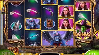WIZARD OF OZ: WINGED MONKEYS Video Slot Game with a FREE SPIN BONUS