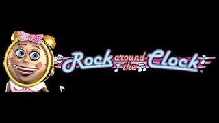 Rock Around the Clock - Konami Slot Machine Bonus Win!