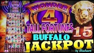 •JACKPOT HANDPAY• WONDER 4 TALL FORTUNES BUFFALO GOLD sLot machine JACKPOT! (LUCKY NEIGHBOR)