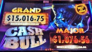 """""""NEW GAME"""" **CASH BULL** BY(ARISTOCRAT)FIRST LOOK?? LIVE PLAY+ FREE SPINS"""