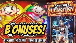 Winning Fortune Progressive and Sword of Destiny bonuses