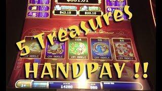 Handpay- 5 Treasures - Shen Fortune (snooze fest)