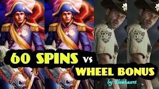 * More Spins or Wheel bonus?* NAPOLEON & JOSEPHINE slot vs The WALKING DEAD slot machine BONUS WINS!