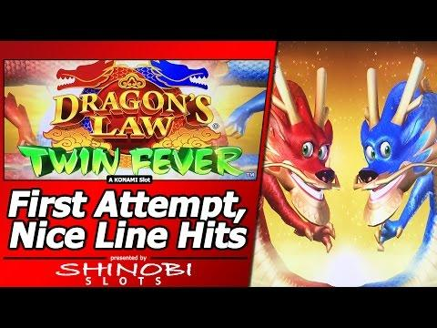 Dragon's Law Twin Fever Slot - First Attempt, Live Play and Nice Line Hits