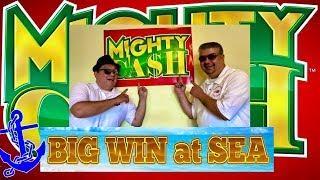 •MIGHTY CASH•BIG WIN AT SEA•FULL SCREEN•RETRIGGERS•BRILLIANCE OF THE SEAS!!