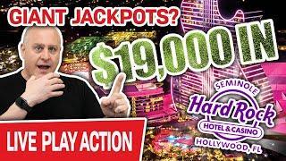 ⋆ Slots ⋆ $19,000 High-Limit LIVE STREAM Slot Play! ⋆ Slots ⋆ GIANT JACKPOTS at Hard Rock Hollywood?