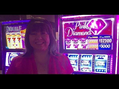 HAND PAY! PINK DIAMONDS SLOT MACHINE-LIVE PLAY!