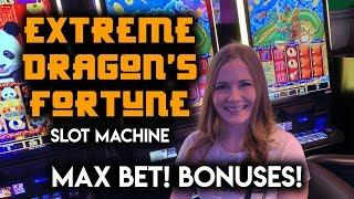 New! Xtreme Dragons Fortune! Slot Machine! Max Bet! BONUSES!