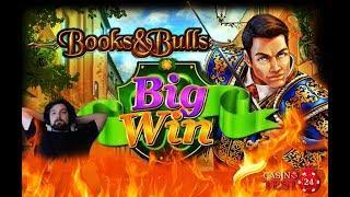 BIG WIN on Books & Bulls - Bally Wulff Slot - 2€ BET!