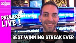 •BEST #WINNING STREAK EVER! •$500 at a Time! • BCSlots Live Premiere from San Manuel Casino •