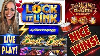 LOCK•IT LINK• | •DANCING DRUMS• | •️LIGHTNING LINK•️ FUN LIVE PLAY!