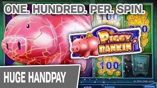 ⋆ Slots ⋆ ONE HUNDRED Dollars Per Spin = HUGE Jackpot ⋆ Slots ⋆ Lock It Link: Piggy Bankin'