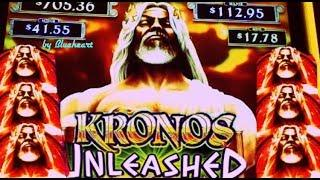 • NEW! • KRONOS UNLEASHED slot machine and ZEUS UNLEASHED slot BONUS WINS!