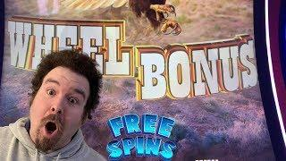 BUFFALO DIAMOND - BONUS WHEEL FREE SPINS 3X GAMES Slot Machine Live Play