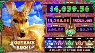 HUGE FRIGGIN' WIN ON NEW MIGHTY CASH OUTBACK BUCKS SLOT POKIE BONUSES + MORE BONUSES!
