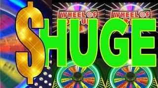 ★ ★ MAX BET / 2 GIANT WINS  ★ ★ DOUBLE FEATURE - WHEEL OF FORTUNE - BLAZING 7s
