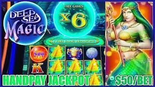 HIGH LIMIT Drop & Lock Deep Sea Magic HANDPAY JACKPOT ★ Slots ★ $50 BONUS ROUND LOCK IT LINK SLOT MA