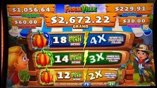 •NEW GAME ! FARM VILLE (Mighty Cash Unlimited) Slot •$275 Free Play Slot Live•San Manuel Casino•彡栗スロ