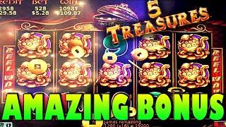 SWEET *SUPER BIG WIN* | 5 TREASURES SLOT MACHINE BONUS