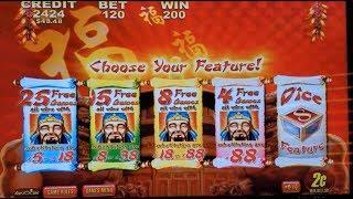 Lucky 88 Slot Machine Bonus  x100 Win | Quick Hit Ultra Pays Slot Machine Bonus