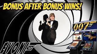 BONUS AND CHIP WINS ON JAMES BOND THUNDERBALL