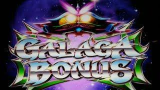 FIRST ON YOUTUBE!  New GALAGA SLOT MACHINE POKIE BONUSES + FEATURES - PECHANGA CASINO