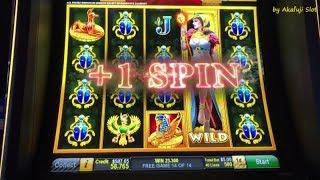 Wonderful Win•GODDESS RISING 1c Slot Machine Max Bet $5, San Manuel Casino, Akafujislot, カジノ, スロット