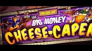 HUGE WIN!!! LIVE PLAY on Big Money Cheese Caper Slot Machine w/ SDGuy1234
