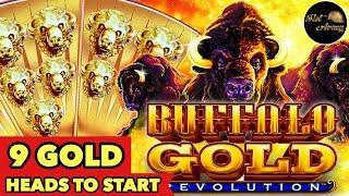 •️START WITH 9 GOLD HEADS?!•️BUFFALO GOLD REVOLUTION SUPER WIN SLOT MACHINE