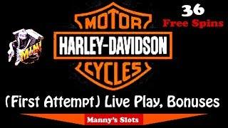 (First Attempt) Harley Davidson Slot Machine by Igt Live Play and Bonuses at Barona Casino
