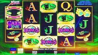 ++NEW Cat's Eye, Class II Slot Machine, Live Play & Bonus