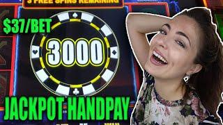 JACKPOT HANDPAY! $37/BET on Lightning Cash High Stakes w/Lady Luck HQ!