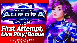 Age of Aurora: Aries Slot - First Attempt, Live Play and Free Spins Bonus