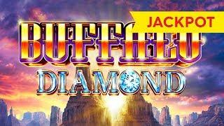 JACKPOT HANDPAY! Buffalo Diamond Slot - $8 Max Bet!