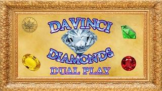 *NEW Game* DaVinci Diamonds Dual Play - live play w/ bonus - Slot Machine Bonus