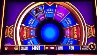 **BIG WIN!!/MAX BET BONUSES!!** Wonder 4 Jackpots Slot Machine