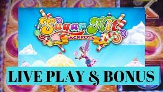 SWEET STACKS SUGAR HITS JACKPOTS Slot Machine LIVE Play and BONUS WIN