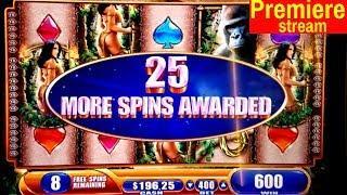 $700 Premiere Stream   Queen Of The Wiald Slot Machine BONUSES   Money Charge Jackpots Slot Machine