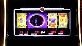 Bally slot game Cash Eclipse slot bonus win at Sands Casino.