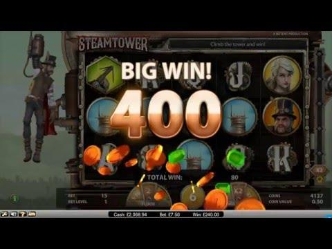 Steam Tower Game Play £7 Spins