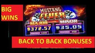 I GOT MUSTANG FEVER!!!!!! BIG WINS!!! LIVE PLAY!!! BACK TO BACK BONUSES!!!!