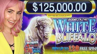 $25/SPIN BONUS Game on White Buffalo Slot Machine at Wind Creek!