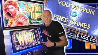 ⋆ Slots ⋆ 3 Big Wins on Temple Of The Tiger ⋆ Slots ⋆ $100 Max Bet Spins Jackpot Bonus Rounds