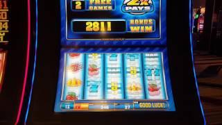 Quick Hit Wild Blue $1 Slot Bonus High Limit $27 Spin Hand Pay